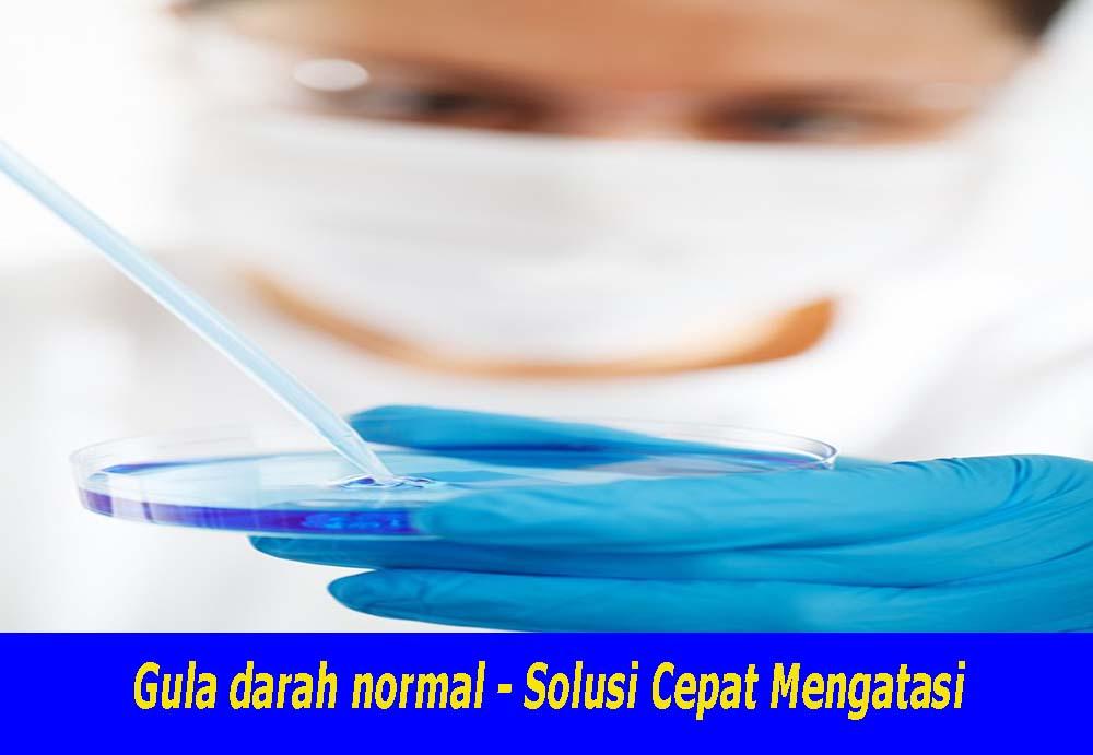 Gula darah normal , jago solsusi